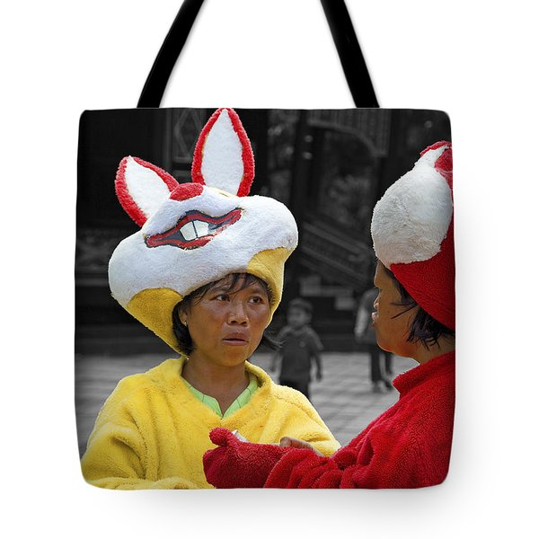 Behind The Mask Tote Bag by Charuhas Images
