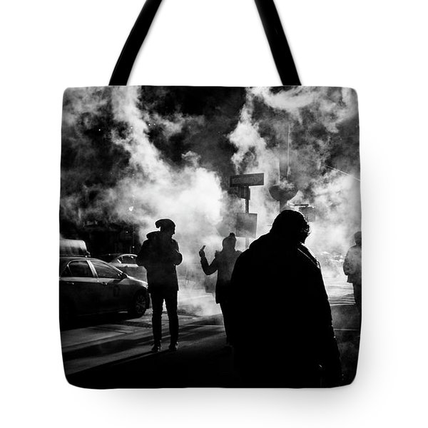 Behind The Smoke Tote Bag