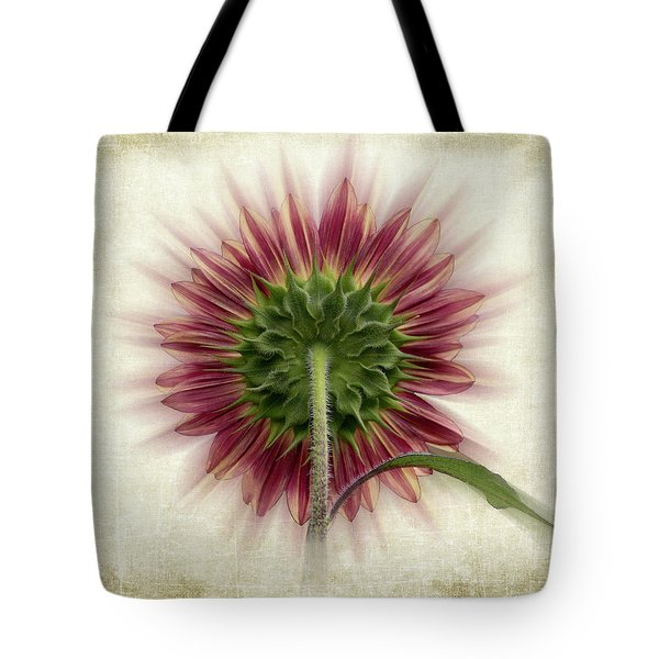 Behind The Sunflower Tote Bag