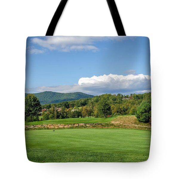 Tote Bag featuring the photograph Behind The Tee by Claire Turner