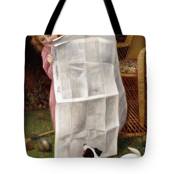 Behind The Times Tote Bag