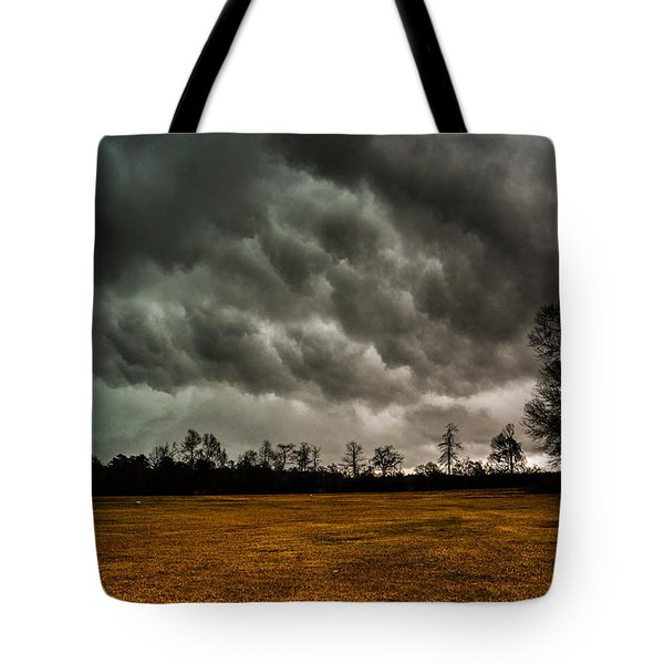 Behind The Tornado Tote Bag