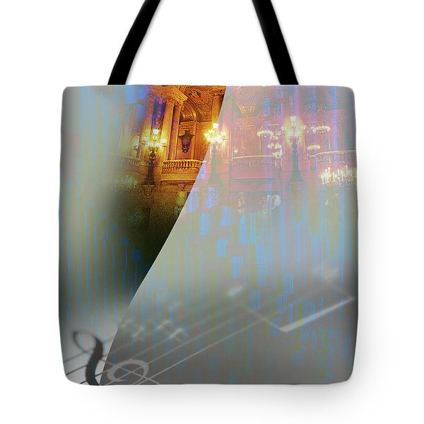 Tote Bag featuring the painting Behind The Vail by Allison Ashton
