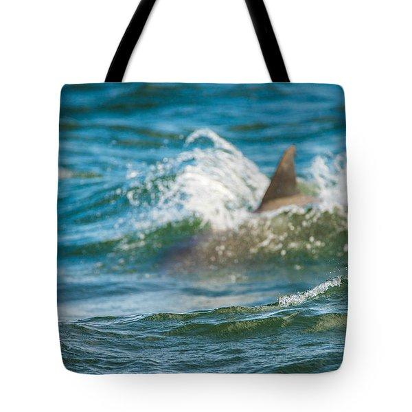 Behind The Wave Tote Bag