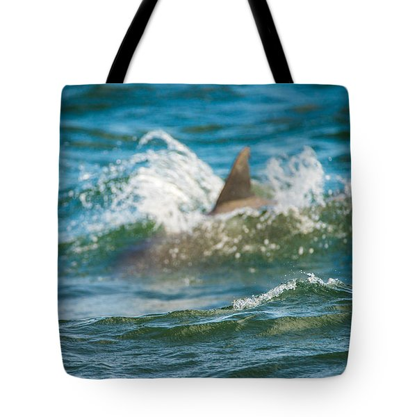 Behind The Wave Tote Bag