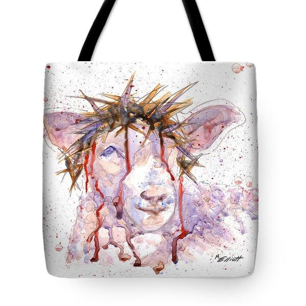 Behold The Lamb Tote Bag by Marsha Elliott