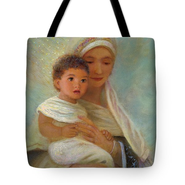 Tote Bag featuring the painting Behold The Light by Nancy Lee Moran