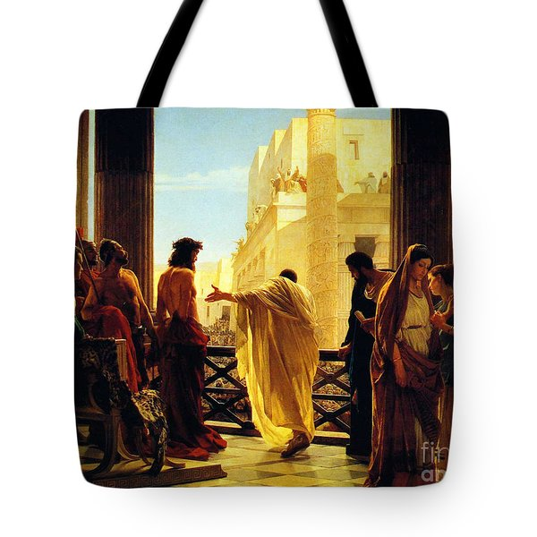 Tote Bag featuring the painting Behold The Man by Celestial Images