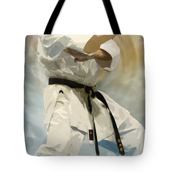 Being A Black Belt Tote Bag by Deborah Lee