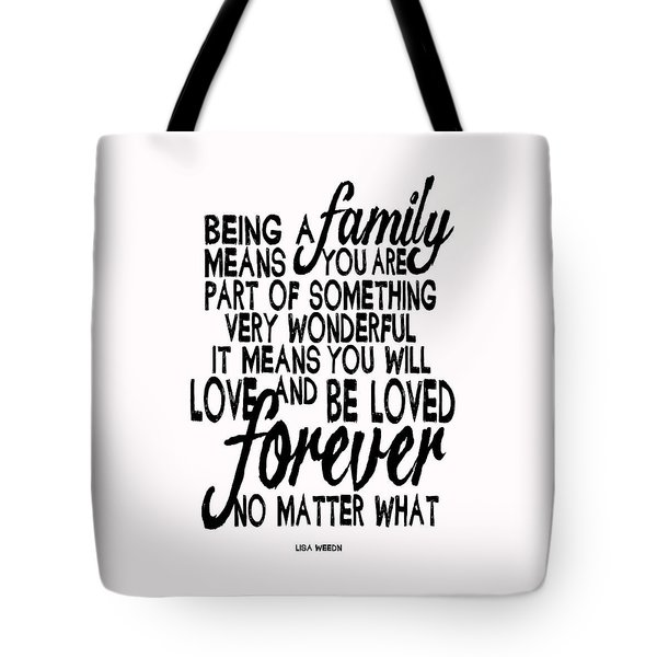 Being A Family Tote Bag