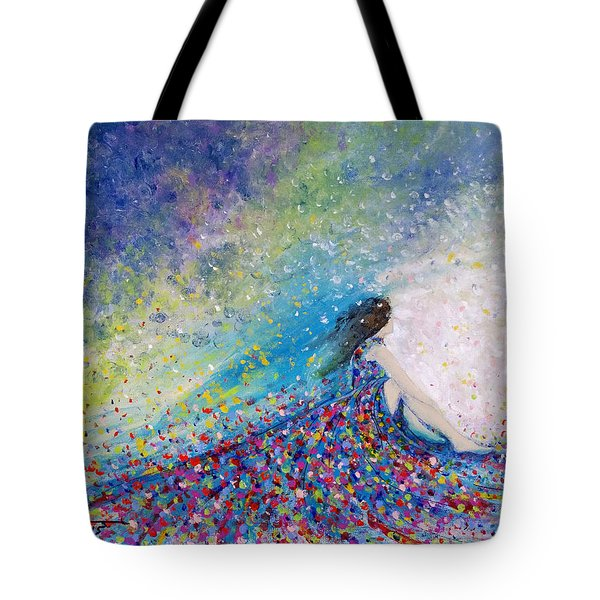 Being A Woman - #5 In A Daydream Tote Bag by Kume Bryant