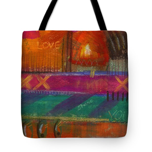 Tote Bag featuring the painting Being In Love by Angela L Walker