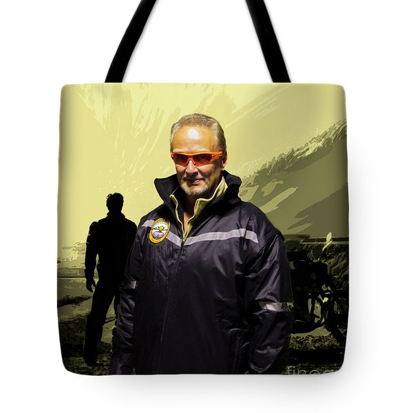 Tote Bag featuring the photograph Being In The Movie IIi by Al Bourassa