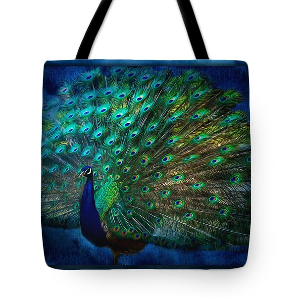 Being Yourself - Peacock Art Tote Bag