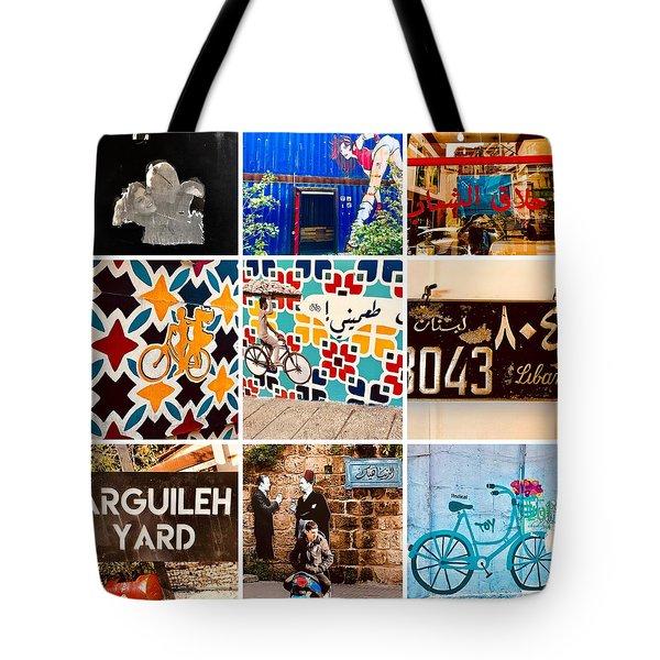 Beirut Colorful Life Tote Bag