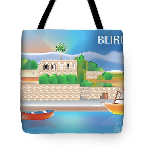 Beirut Lebanon Horizontal Scene Tote Bag