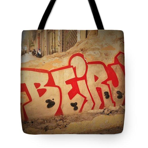 Beirut On A Graffiti Wall Tote Bag
