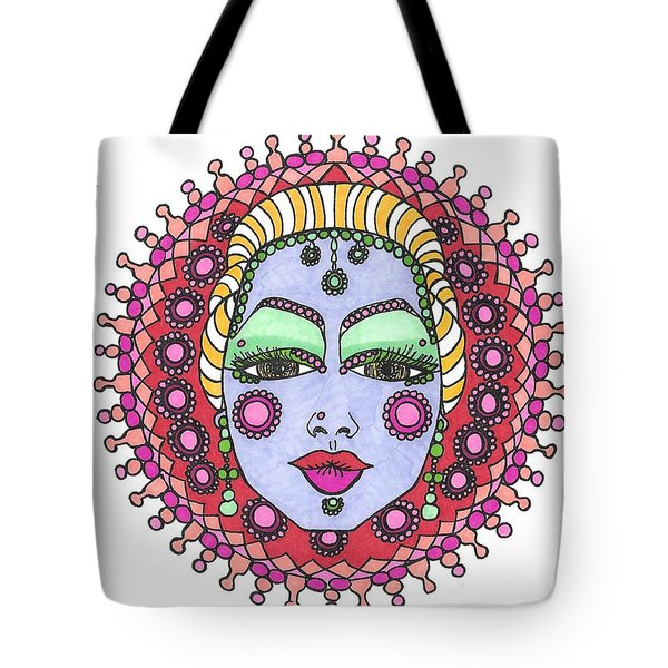 Bejeweled Blond Tote Bag
