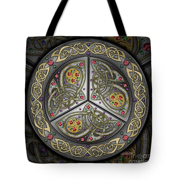 Bejeweled Celtic Shield Tote Bag