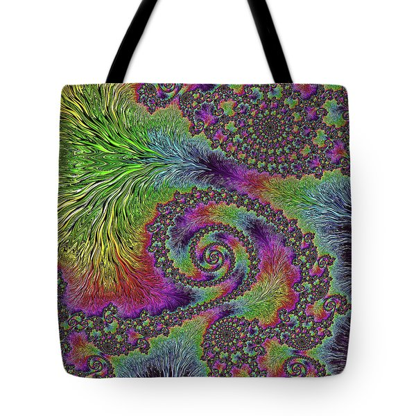 Bejeweled Fractal Abstract Tote Bag