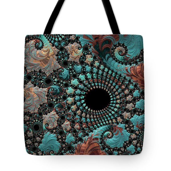 Tote Bag featuring the digital art Bejeweled Fractal by Bonnie Bruno