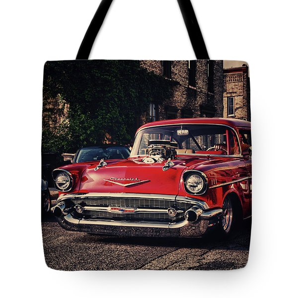 Tote Bag featuring the photograph Bel Air Hotrod by Joel Witmeyer