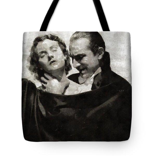 Bela Lugosi And Helen Chandler, Dracula Tote Bag