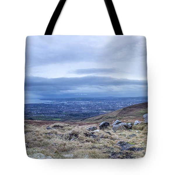 Belfast Lough From Divis Mountain Tote Bag