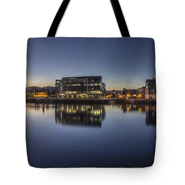 Belfast Near The Docks Tote Bag