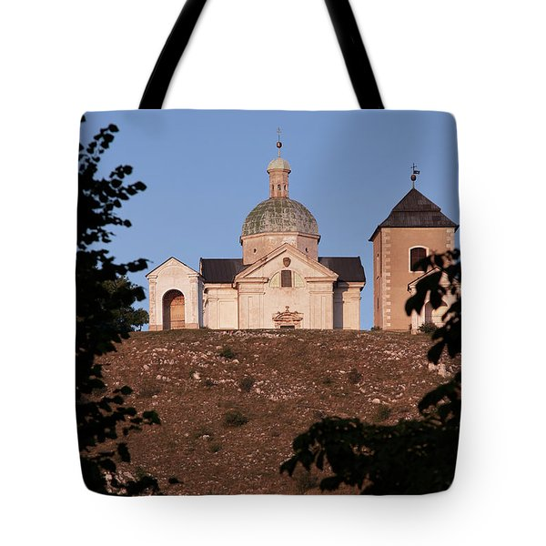 Tote Bag featuring the photograph Belfry And Chapel Of Saint Sebastian by Michal Boubin