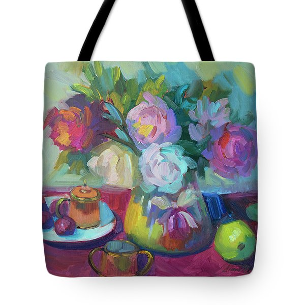 Tote Bag featuring the painting Belgian Creamer And Sugar by Diane McClary