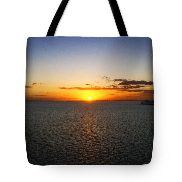 Belize Sunset Tote Bag