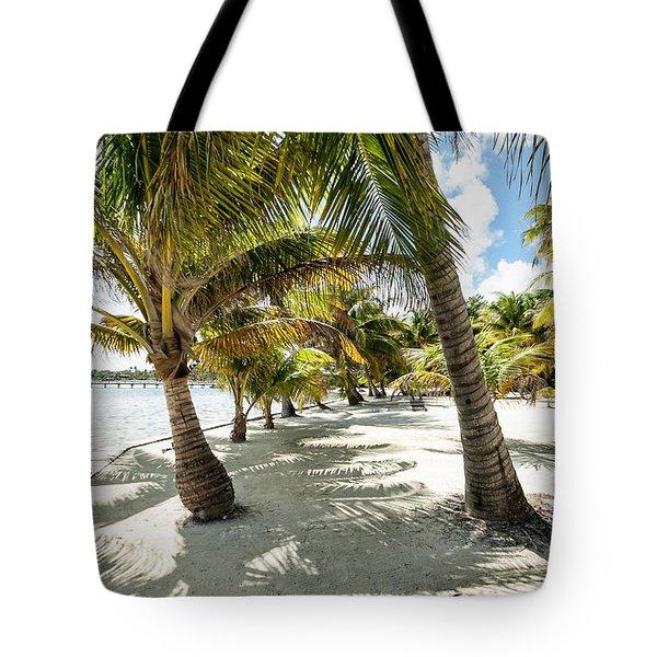 Belizean Palms Tote Bag