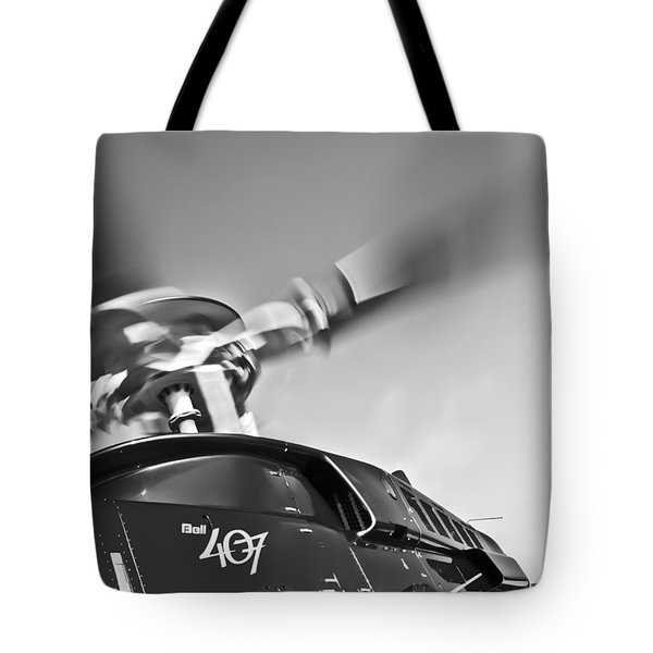 Bell 407 Tote Bag by Patrick M Lynch