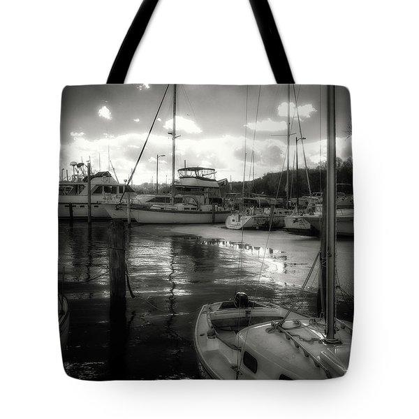 Bell Haven Docks Tote Bag by Paul Seymour