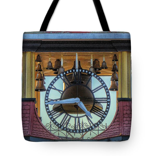Tote Bag featuring the photograph Bell Lighting by Constantine Gregory