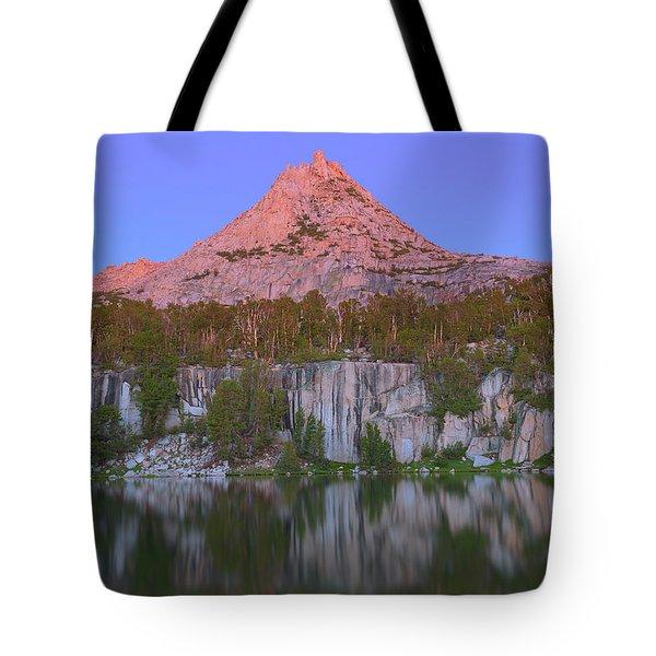 Bell Peak Alpenglow Tote Bag