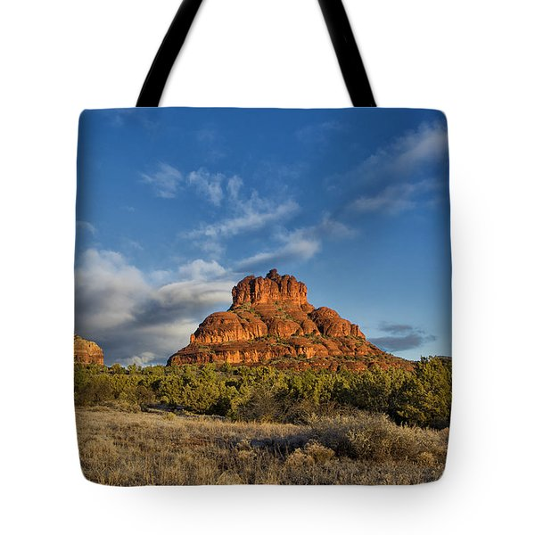 Bell Rock Beams Tote Bag by Tom Kelly