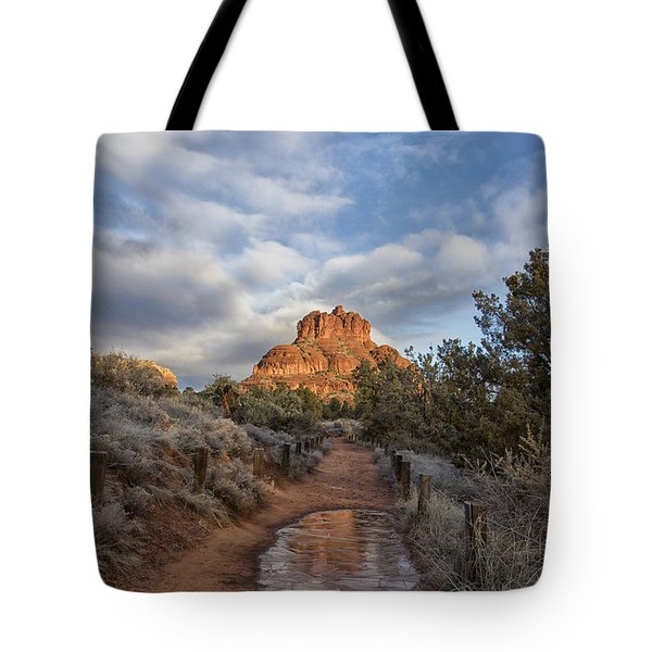 Bell Rock Beckons Tote Bag by Tom Kelly