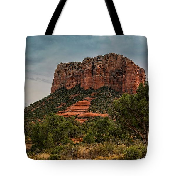 Tote Bag featuring the photograph Courthouse Butte - Sedona  by Saija Lehtonen