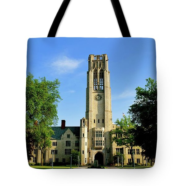 Bell Tower At The University Of Toledo Tote Bag