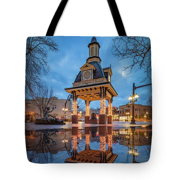 Tote Bag featuring the photograph Bell Tower  In Beaver  by Emmanuel Panagiotakis