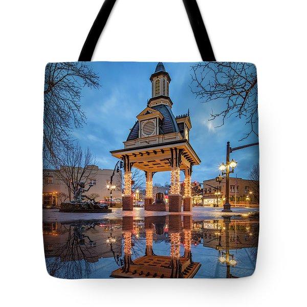 Bell Tower  In Beaver  Tote Bag