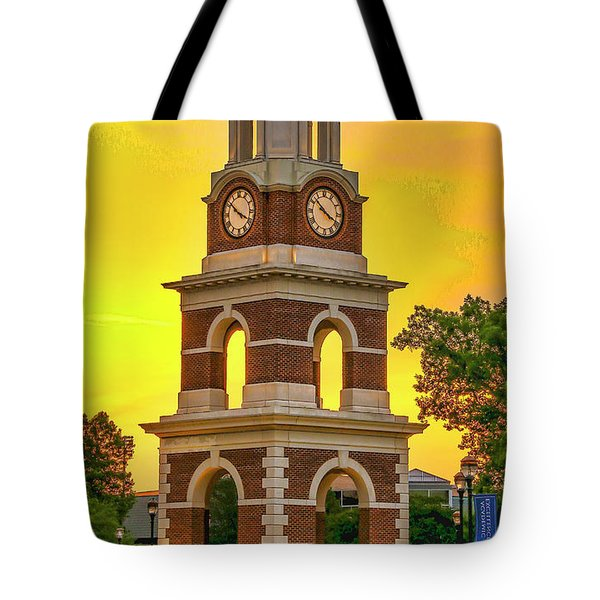 Bell Tower At Christopher Newport University C N U Tote Bag