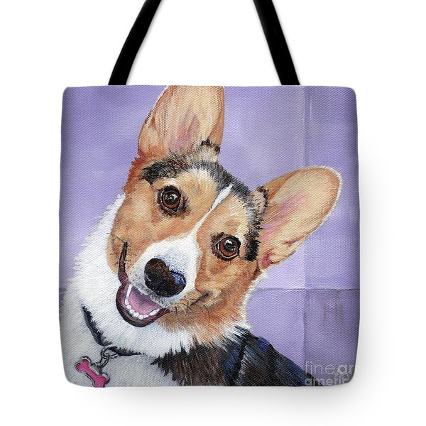 Corgi Get Low 18in Decorative Tote Bags