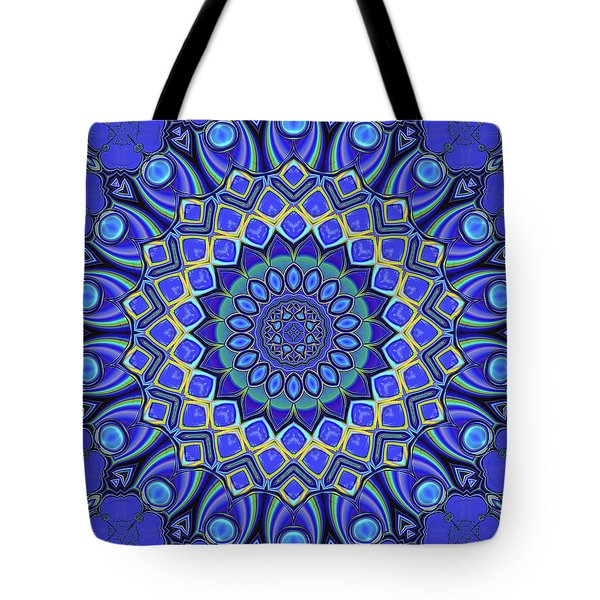 Tote Bag featuring the digital art Bella - Blue by Wendy J St Christopher