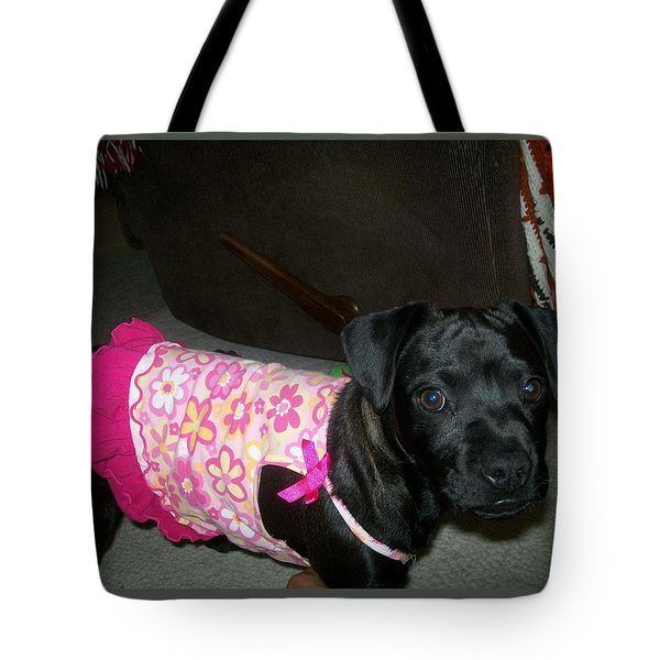Tote Bag featuring the photograph Bella In Swimsuit by Jewel Hengen
