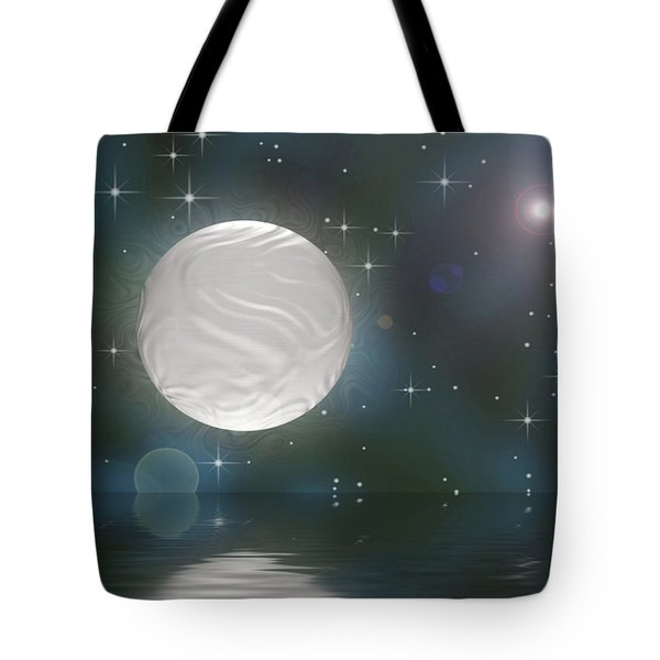 Tote Bag featuring the digital art Bella Luna by Wendy J St Christopher