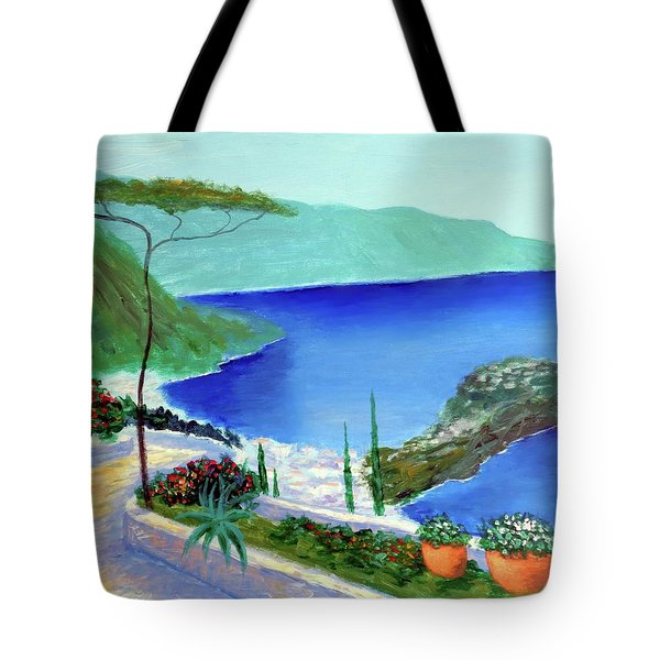 Tote Bag featuring the painting Bella Monaco  by Larry Cirigliano