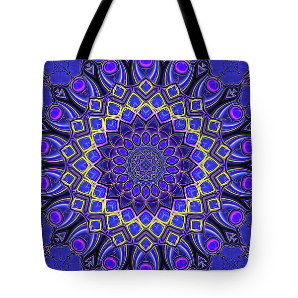 Tote Bag featuring the digital art Bella - Purple by Wendy J St Christopher